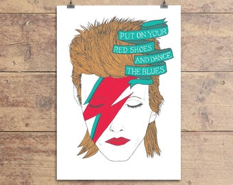 David Bowie Let's Dance Greeting Card