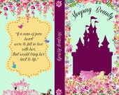 Book phone /iPhone flip Wallet case- Sleeping Beauty for iPhone 6/6s, 6 plus, 5, 5s, 5c, iPhone 4, 4s- Samsung Galaxy S6 S5 S4 S3, Note 3, 4