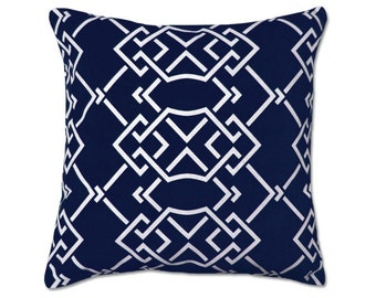 Blue indoor Outdoor Pillow Decorator Pillow Covers.Printed Fabric On Both Sides. Housewares. Throw Pillows.Cushion Covers, Accent Pillow