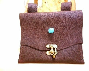 SALE-Leather Pouch  for Belt or Bike-4.00 OFF-Just 21.00