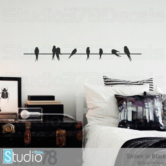 Wall Decals Birds On A Wire Vinyl Decal Home Decor