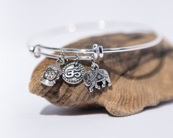 Elephant Jewelry Boho Gifts, Girlfriend Gift Bracelet Elephant Bracelet Yoga Jewelry for Women, Yoga Gifts Women Om, Buddha Mindfulness Gift