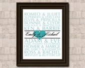 Famous Couples in History Anniversary DIY Printable - Custom