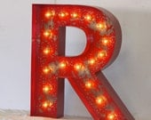 LARGE Old Vintage Style Marquee Letters Metal Steel........... A B C D E F G H I J K L M N O P Q R S T U V W X Y Z
