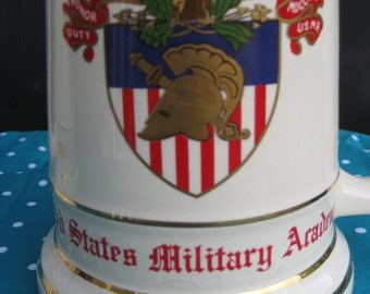 United States Military Academy Tankard - West Point Ceramic Stein - American Made in USA
