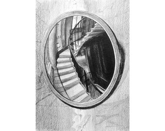 a curved mirror, the Soane Museum — limited edition archival print