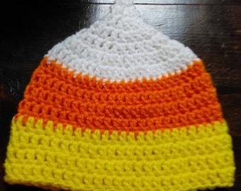 Crochet Candy Corn Beanie