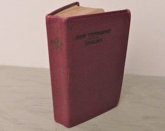 Antique Leather Bible - The New Testament - Illustrated - 1936