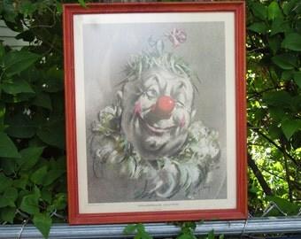 Grasshair Clown Print by Cydney
