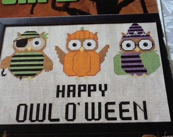 HAPPY-OWL-0-WEEN - cross stitch pattern only