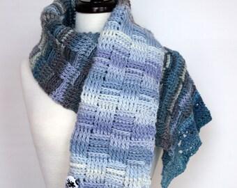 Skylark - Merino Interweave Shoulder Wrap Scarf, Extra Wide, Chunky, Super Warm