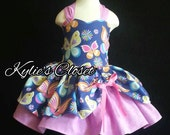 Colorful Butterly Floral MiniBelle Ruffle Dress for Girls - Pageant - Birthday - Party - Princess - Celebration - Special Occasion - Spring