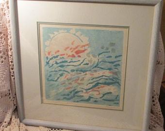 Grace Perreiah Print Entitled Jet Stream, 4/12, Hand Signed