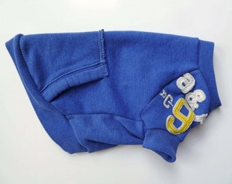 Blue Abercrombie and Fitch Upcycled Dog Sweatshirt