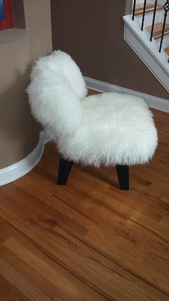 Mongolian Lamb Chair Eames Style Sheepskin By Avafluffandstuff