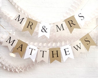 Personalised Wedding Bunting
