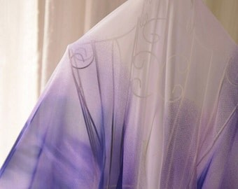 Gradient Purple Chiffon Fabric MJ186