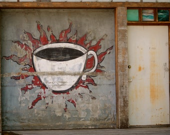 A Cup of Jittery Joes, Athens Ga Art, 8x10 matted for 11x14, Photo, Print, Coffee, Art,