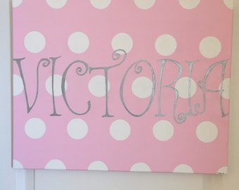 Custom Canvas Name Sign