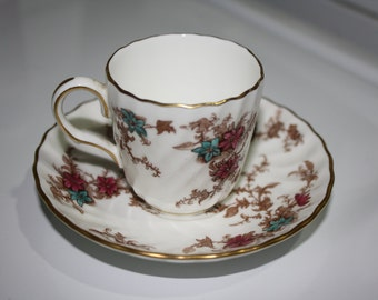 Minton Ancestral Demitasse Cup and Saucer