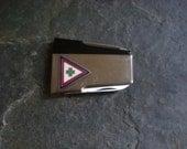 Vintage Mens Money Clip Pocket Knife Mid Century Vernco Japan Camping Accessory