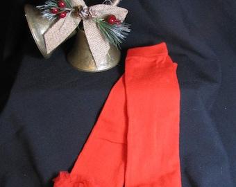 Red Arm Warmers Addition to Cruella De Vil Tutu Dress