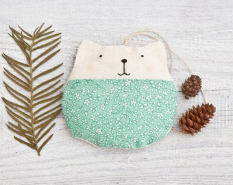 Mint Christmas ornament, Cat lover gift, Cat tree ornament, Tree Decoration, New Years Party Décor, Tree Ornament, Grandma Gift