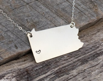PA Necklace for Pittsburgh Lovers
