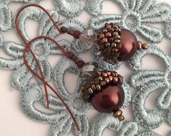 Beaded Acorn Earrings PDF Tutorial