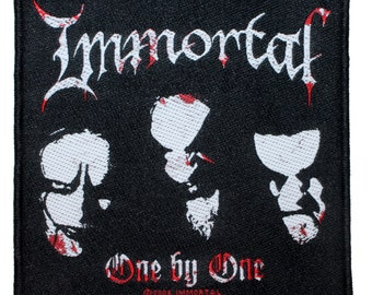 """Northern Darkness """"Immortal: One by One"""" Black Metal Song Art Sew On Applique Patch"""