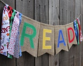 READ Burlap Banner with Streamers // Classroom Decoration // Teacher Gift // Storytime