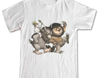 Where The Wild Things Are Monsters 100% Cotton Shirt Men Women Children Small, Medium, Large, X-Large