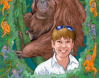 Your Portrait with Your Favorite Ape- by Artist Philip Herman