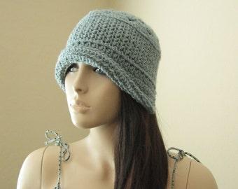Crochet Cloche Hat Bonnet,1920s Hat, Crochet Hat,Boho Hat