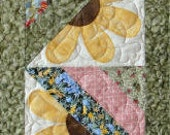 Instant Download Tipsy Sunflower Table Runner & Placemat Quilt Pattern PDF e-Pattern