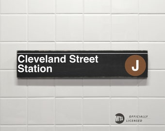 Cleveland Street Station - New York City Subway Sign - Wood Sign