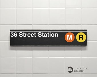 36 Street Station - New York City Subway Sign - Wood Sign