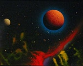 "Star Trek The Next Generation Artist Dave Archer Original Reverse Glass Painting Titled: ""Color Study"""