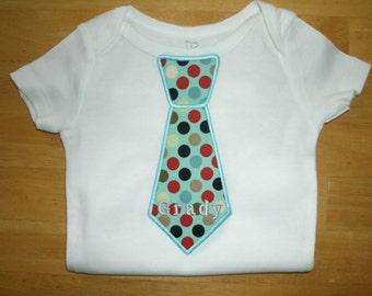 Neck Tie Appliqued Tshirt or Onesie