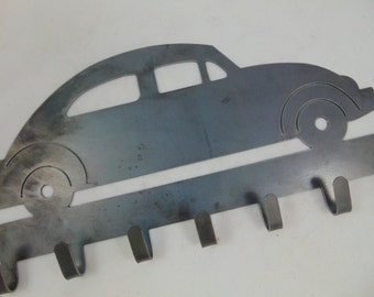 Volkswagon Beetle Bug Car Wall Hooks, Custom Metal Wall Art