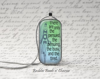 The Great Gatsby Quote Necklace, Gatsby-4 Book Quote Necklace, Domino Pendant Necklace, Literary Necklace Jewelry, Glass Tile Necklace