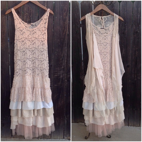 Shabby Chic Romantic Two Piece Dress Wedding Rustic By