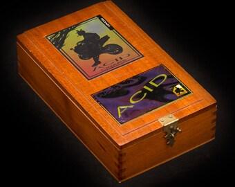 Magic The Gathering Wooden Deck Box - Acid Juggernaut