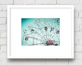 Coney Island Wonder Wheel, Brooklyn, New York NYC: 5x7 Matted Photo