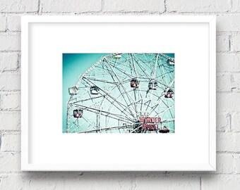 Coney Island Wonder Wheel, Brooklyn, New York NYC: 5x7 Matted Photo