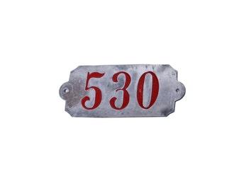 Vintage Industrial Steel Number Tags