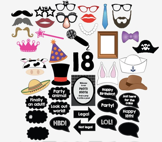 This is a picture of Refreshing Free Printable Photo Booth Props Birthday