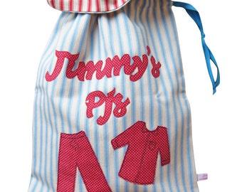 Personalised Pj Bag - Pajama Bag for Children's Bedroom Decor