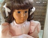 Vintage Wood CAMELOT Handcrafted Zasan Wood Painted Face Doll QVC GIgi High Quality Collectible Girls Pretend Toys Display Doll