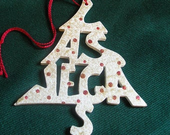 Las Vegas, handcrafted tree shaped ornament